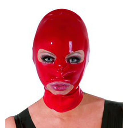 Le Femme - The Latex Collection Latex Hoofdmasker - Rood