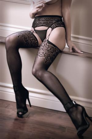 Le Femme - Sheer Fantasy Into You Jarretel Panty
